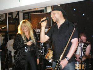 Making a guest appearance with my good friends Vanessa Warne (who first encouraged me to sing) & Chris Bayfield from Boulevard Blonde